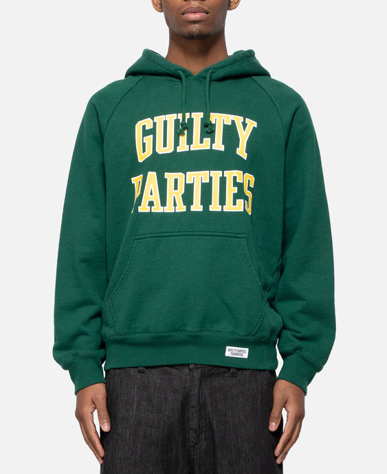 Washed Heavy Weight Pullover Hooded Sweatshirt Type-5 (Green)