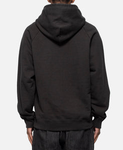 Washed Heavy Weight Pullover Hooded Sweatshirt Type-5 (Black)