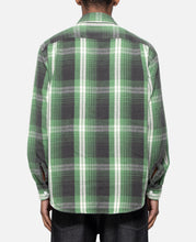 Flannel Check Regular Collar Shirt (Green)