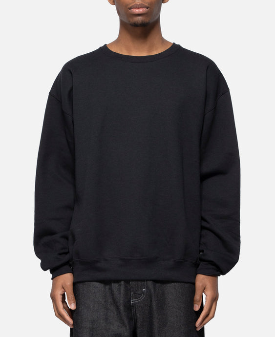 Crew Neck Sweat Shirt Type-9 (Black)