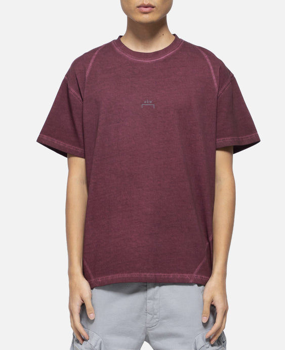 Core T-Shirt With Flat Overlock (Burgundy)
