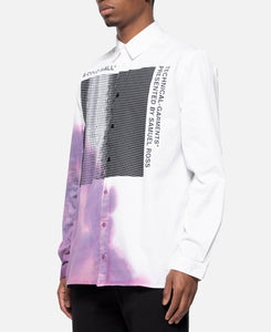 Bruised Shirt With Graphic (White)