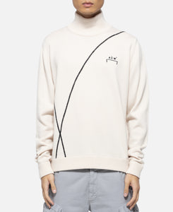 Overlock Knitted Turtleneck (Cream)