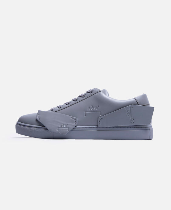 Multipanel Leather Sneaker (Grey)