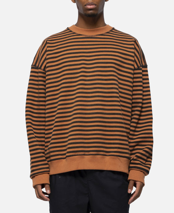 Lefty Stripe Sweatshirt (Brown)