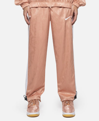 Rose Gold Silk Pattern Track Pants
