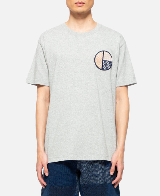 Circle Sashiko T-Shirt (Grey)