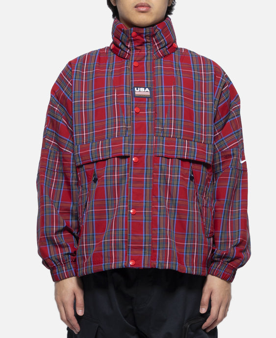Plaid Swoosh Stripe Jacket