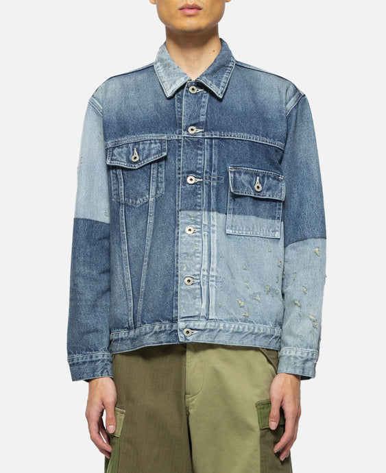 Lazer Denim Jacket (Navy)