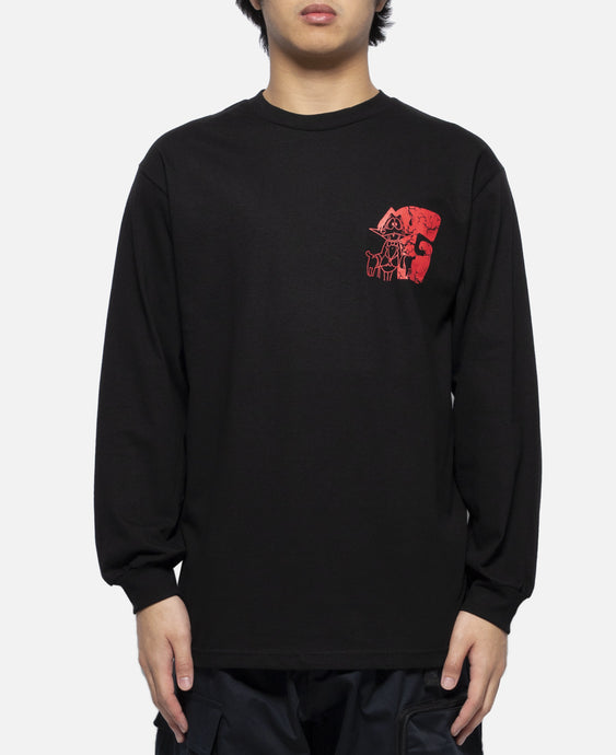 Duck Rock L/S T-Shirt (Black)