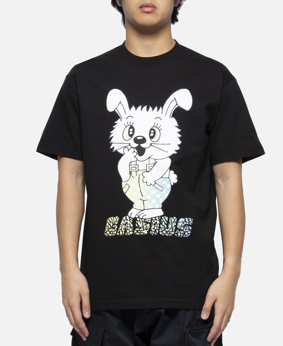 Sticker Bunny T-Shirt (Black)