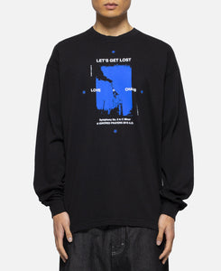 Lets Get Lost L/S T-Shirt  (Black)