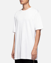 Underlay Ribbed Long Length T-Shirt (White)