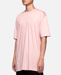Underlay Ribbed Long Length T-Shirt (Pink)