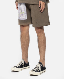 Graphic Terry Shorts (Brown)