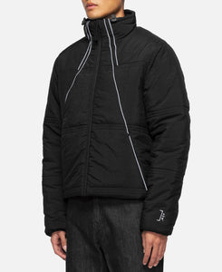 Classic Puffer With Piping Detail (Black)