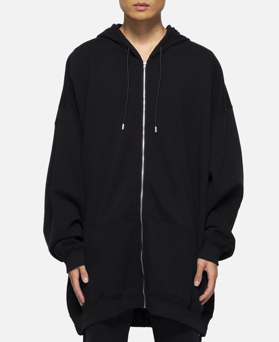 Oversized Hoodie Zip Visual (Black)