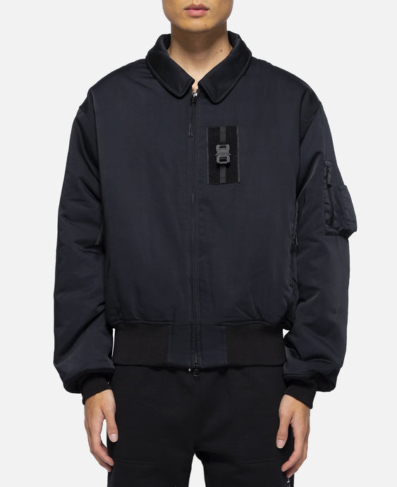 Bomber Jacket With Nylon Buckle (Black)