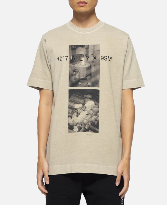 S/S T-Shirt With Print (Olive)