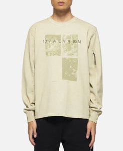 Crewneck With Print (Olive)