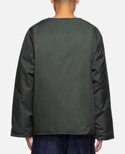 Crew Neck Down Jacket - C/Pe Twill (Green)
