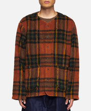 P.P. Cardigan - Boa Tartan Plaid (Orange)