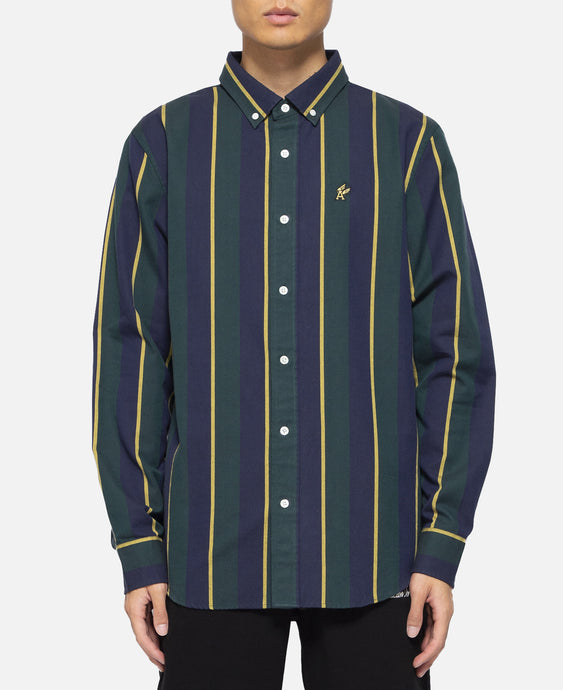 Vertical Stripe Oxford Shirt