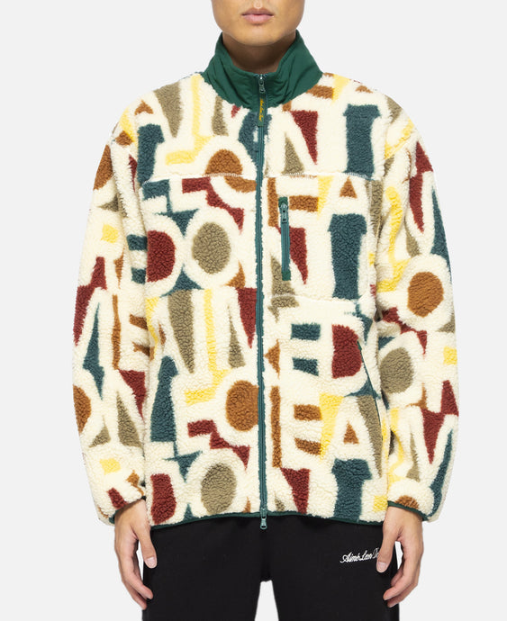 Blown Print Full-Zip Polar Fleece