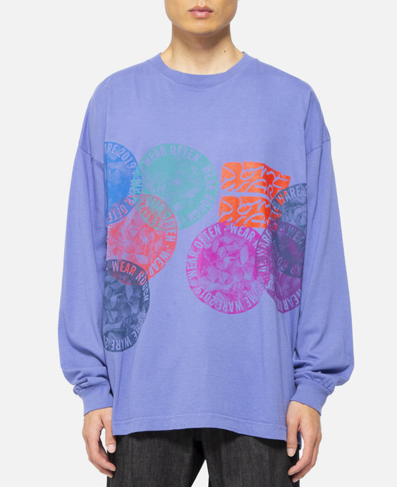 New Flower Circle T-Shirt (Purple)