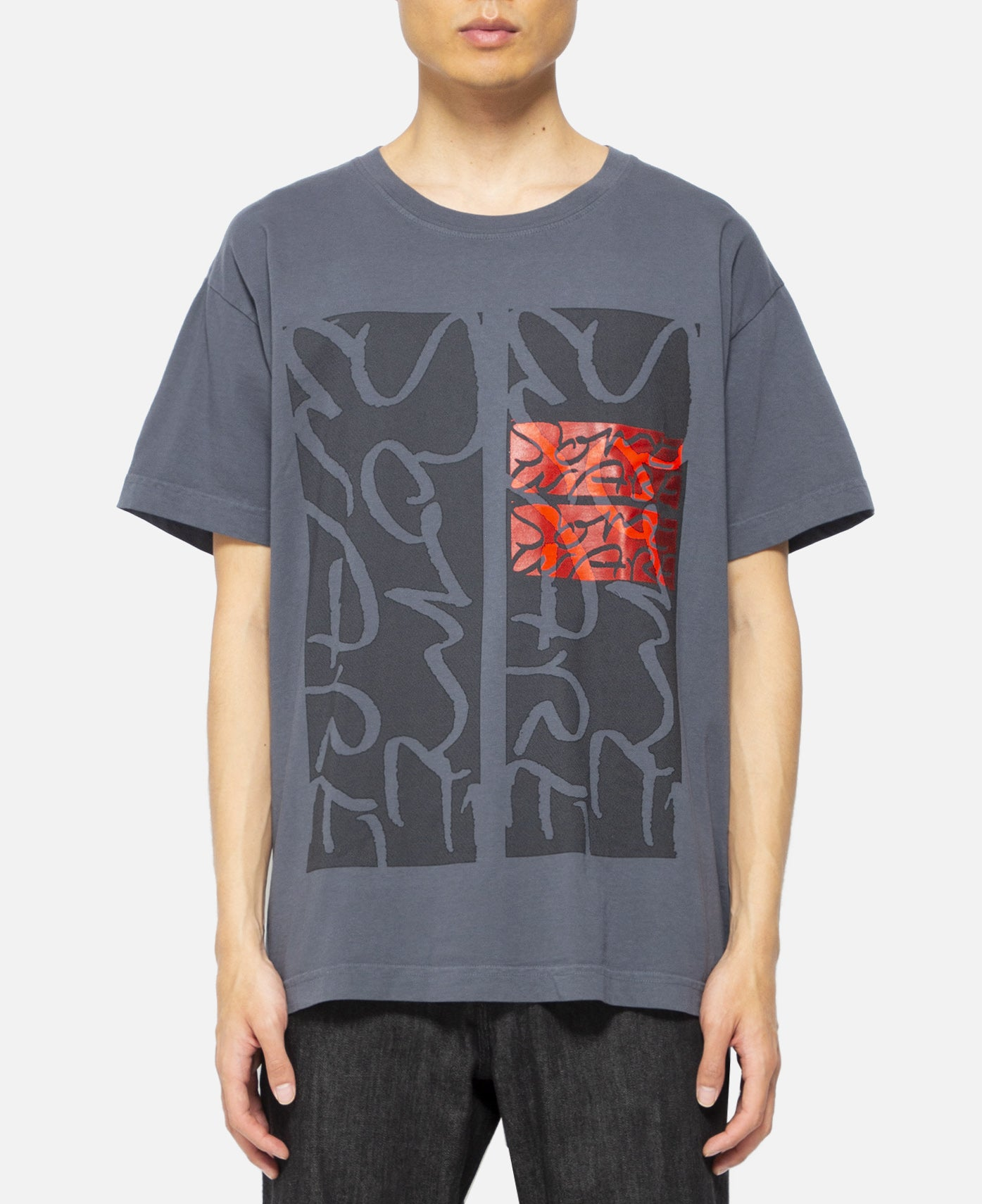 Giant Logo S/S T-SHirt (Charcoal)