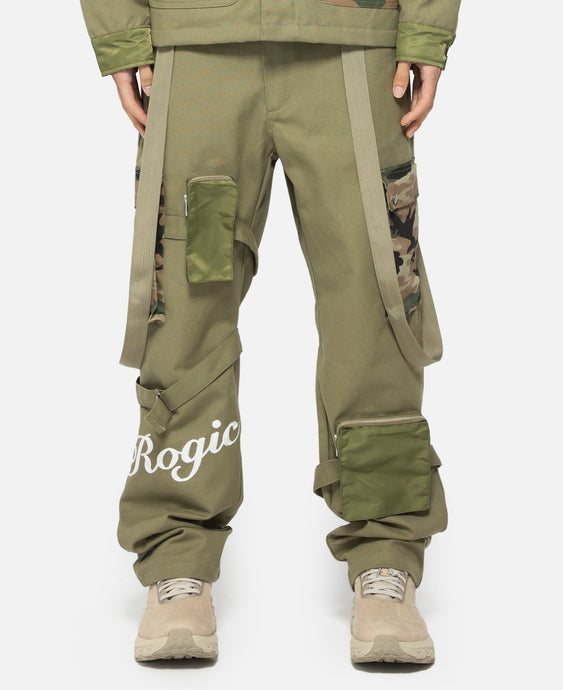 Logo Bondage Pants (Green)