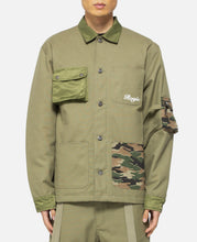 Patchwork Army Shirt (Green)