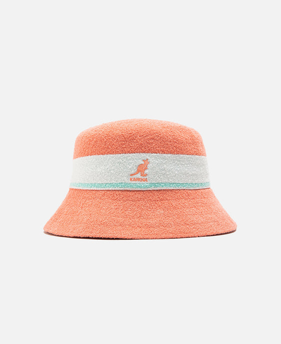 Bermuda Stripe Bucket Hat (Peach)