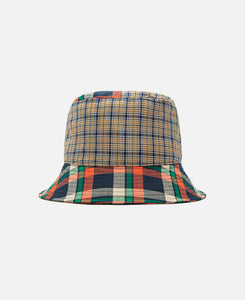 Plaid Mashup Bucket (Brown)