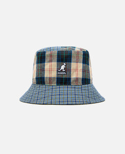 Plaid Mashup Bucket (Navy)