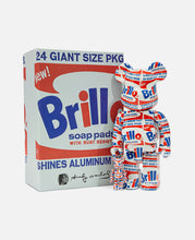 Be@rbrick Andy Warhol 'Brillo' 100% & 400% Set (White)