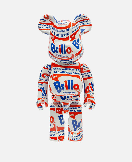 Be@rbrick Andy Warhol 'Brillo' 1000% (White)
