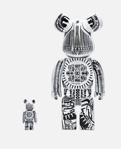 Be@rbrick H.R.Giger 100% & 400% White Chrome Ver. (White)