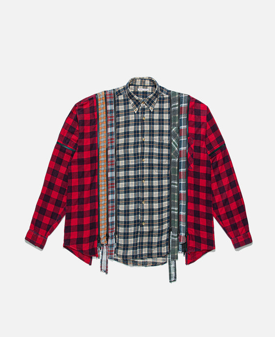 7 Cuts Zipped Wide Shirt (Multi)