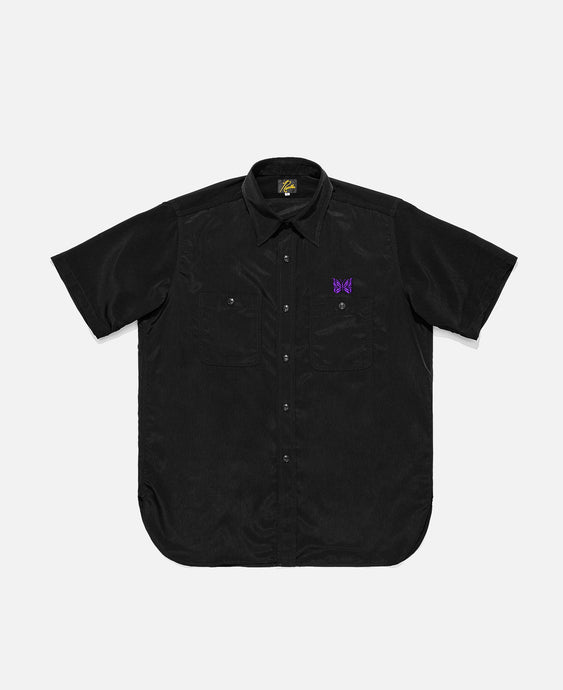 Poly Cloth S/S Work Shirt (Black)