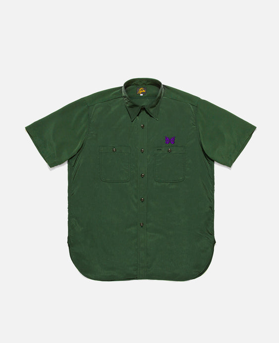 Poly Cloth S/S Work Shirt (Green)