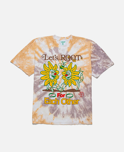 Lets Root For Each Other S/S Tie Dye T-Shirt (Multi)