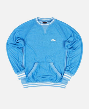 REVERSED CREWNECK SWEATER (HEATHER BLUE)