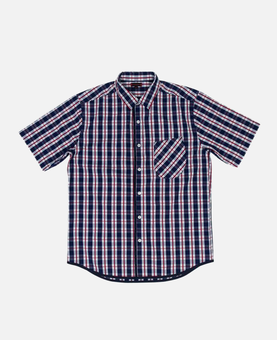 PIPING CHECKER SHIRT (NAVY)