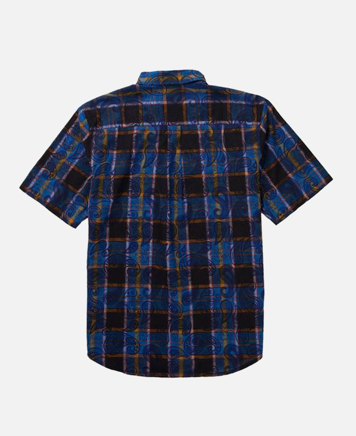 OVERLAPPED PATTERN CHECKER SHIRT (BLUE)