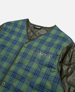 Bowery Plaid Liner Jacket (Green)