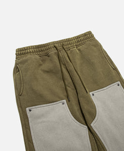 Burnout Dyed Sweatpants (Olive)