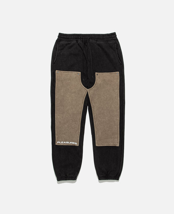 Burnout Dyed Sweatpants (Black)