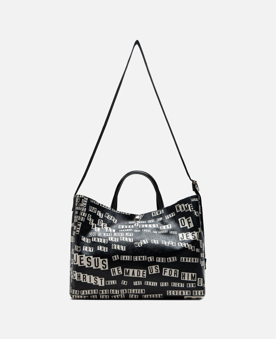 Fabrick Bumper Sticker Tote Bag (Navy)