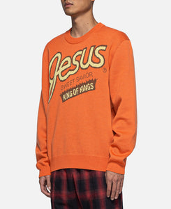 Reeses Jesus Sweater (Orange)